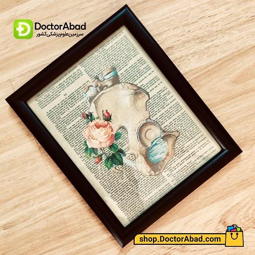 تابلوی هنر آناتومی استخوان لگن